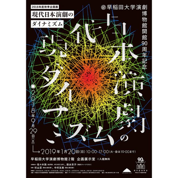 早稲田大学演劇博物館開館90周年記念 2018年度秋季企画展 『現代日本演劇のダイナミズム』