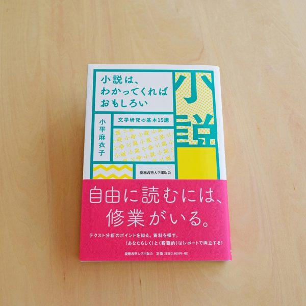 小平麻衣子『小説は、わかってくればおもしろい 文学研究の基本15講』